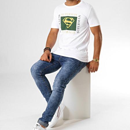 Superman - Tee Shirt Superman Institutional Square Blanc