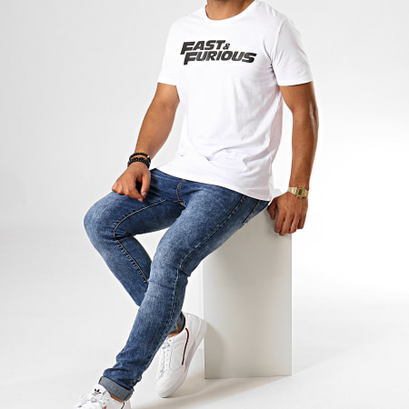 Fast And Furious - Tee Shirt Fast And Furious Blanc