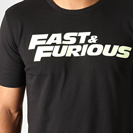 Fast And Furious - Tee Shirt Fast And Furious Glow In The Dark Noir