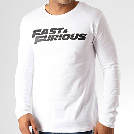 Fast And Furious - Tee Shirt Manches Longues Fast & Furious Blanc