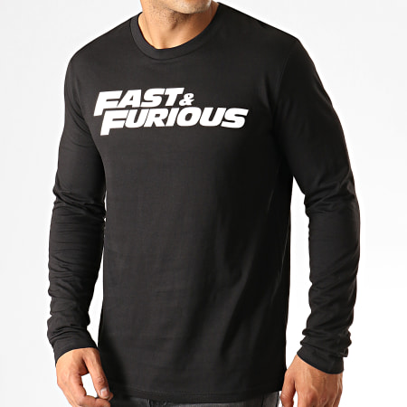 Fast And Furious - Tee Shirt Manches Longues Fast & Furious Noir