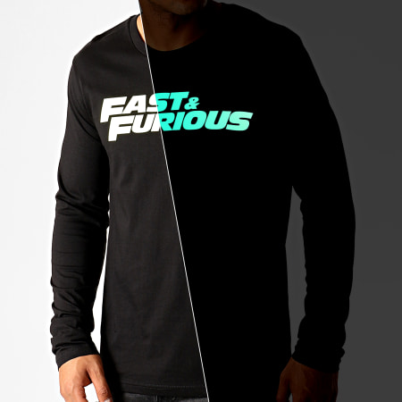 Fast And Furious - Tee Shirt Manches Longues Fast And Furious Glow In The Dark Noir