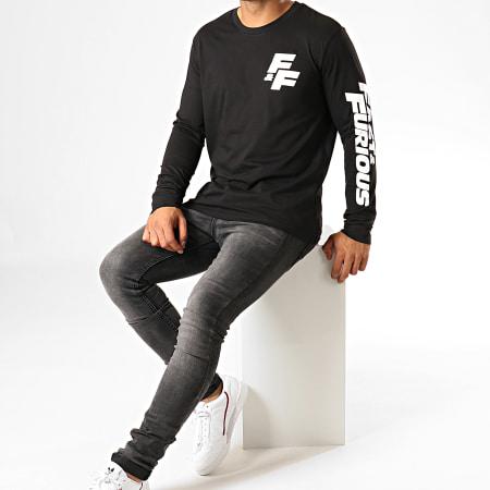 Fast And Furious - Tee Shirt Manches Longues F&F Coeur Noir