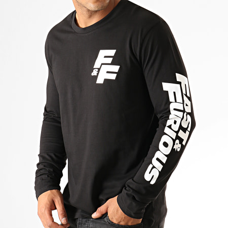 Fast And Furious - Tee Shirt Manches Longues FF Coeur Noir