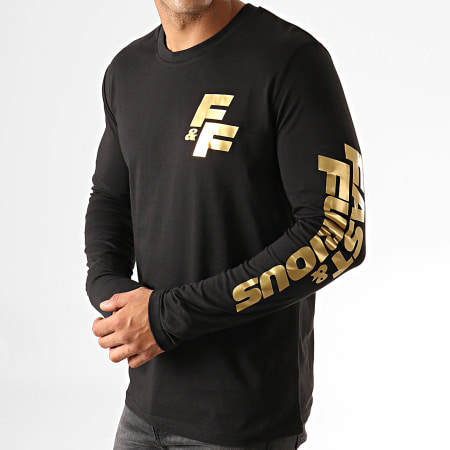 Fast And Furious - Tee Shirt Manches Longues F&F Coeur Noir Doré