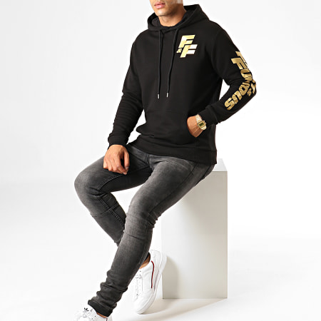 Fast And Furious - Sweat Capuche F&F Coeur Noir Doré