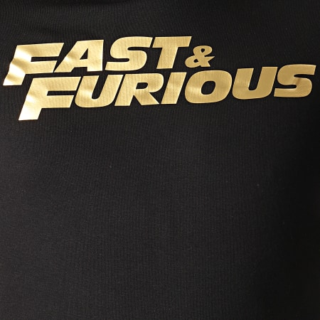 Fast And Furious - Sweat Capuche Fast & Furious Noir Doré