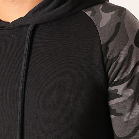 LBO - Sweat Capuche Raglan 873 Camouflage Gris Noir