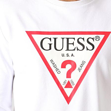 Guess - Sweat Crewneck Slim M94Q24-K7ON0 Blanc
