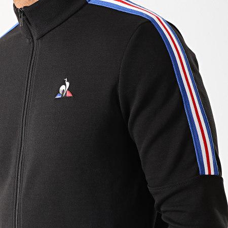 Le Coq Sportif - Veste Zippée A Bandes Tricolore Saison N3 1921929 Noir