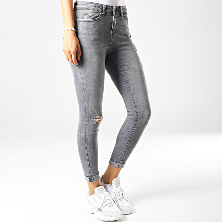 Noisy May - Jean Skinny Femme Lucy Gris