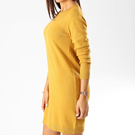 Only - Robe Pull Femme Marco Jaune Moutarde
