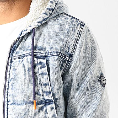 Superdry - Veste Jean Capuche Worker M5000052A Bleu Wash