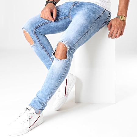 LBO - Jean Skinny Troué BO10 Bleu Denim