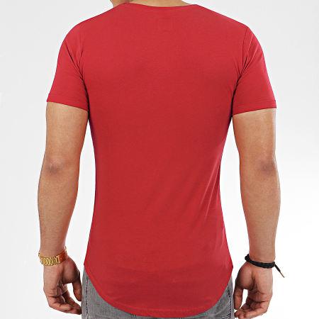 LBO - Lot de 2 Tee Shirts Oversize 934 Rouge et Noir