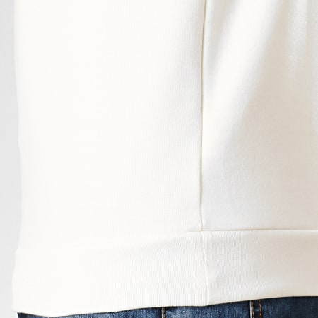 Le Coq Sportif - Sweat Crewneck Tricolore N4 1922173 Blanc Cassé Bleu Marine Jaune Moutarde
