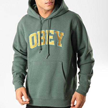 Obey - Sweat Capuche Sports Vert
