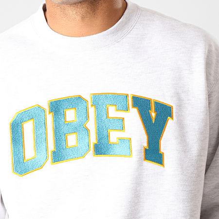 Obey - Sweat Crewneck Sports Gris Chiné