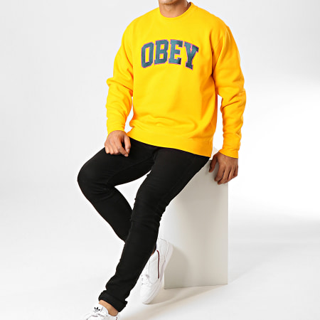 Obey - Sweat Crewneck Sports Jaune