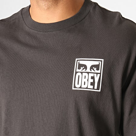 Obey Tee Shirt Manches Longues Eyes Icon Jaune