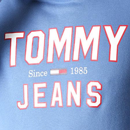 Tommy Hilfiger Jeans - Sweat Capuche Essential 1985 Logo 7025 Bleu Clair
