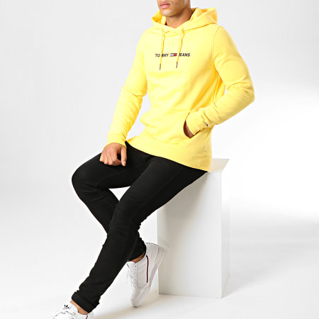 Tommy Hilfiger Jeans - Sweat Capuche Straight Logo 7030 Jaune