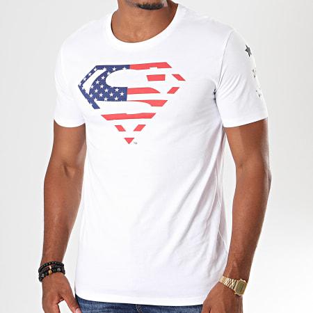 Superman - Tee Shirt USA Blanc