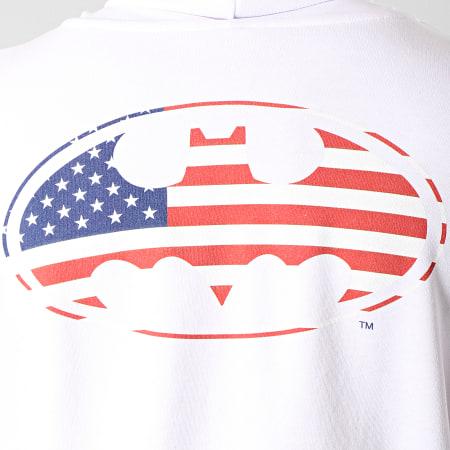 Batman - Sweat Capuche USA Back Blanc