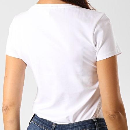 Guess - Tee Shirt Femme Avec Strass O94I00-J1311 Blanc Argenté