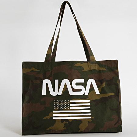 NASA - Sac Tote Bag Flag Camouflage Vert Kaki