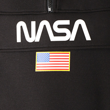 NASA - Sweat Outdoor Col Zippé Flag Noir