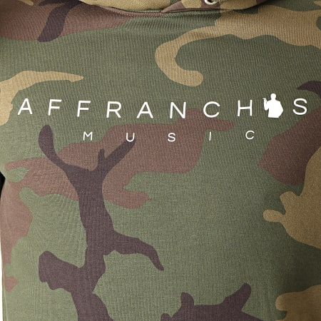 Sofiane - Sweat Capuche Affranchis Music Camouflage Vert Kaki