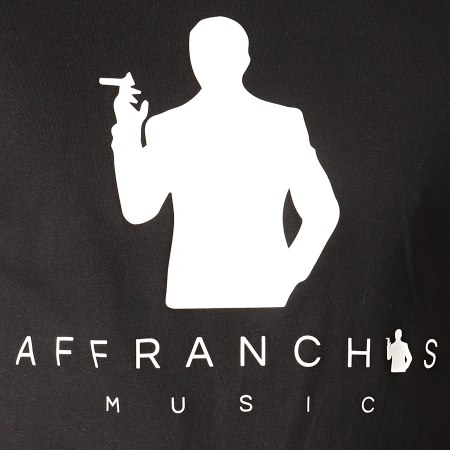 Sofiane - Tee Shirt Affranchis Music Silhouette Noir