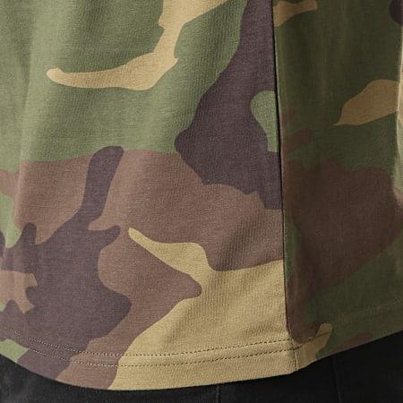 Sofiane - Tee Shirt Affranchis Music Camouflage Vert Kaki