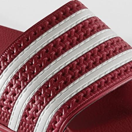 adidas - Claquettes Adilette EE6184 Bordeaux Argenté