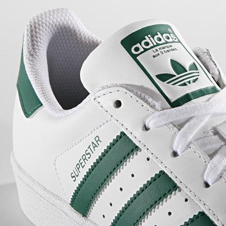 adidas - Baskets Femme Superstar J EE7821 Footwear White Collegiate Green