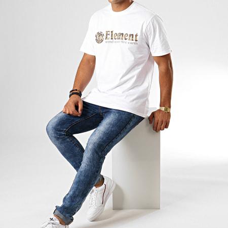 Element - Tee Shirt Camouflage Scope Blanc Vert Kaki