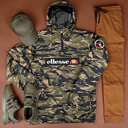Ellesse - Veste Zippée Capuche Camouflage Mont 2 Vert Kaki Noir