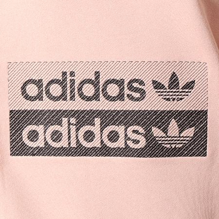 adidas - Robe Sweat Capuche Femme ED7448 Rose Poudré Blanc