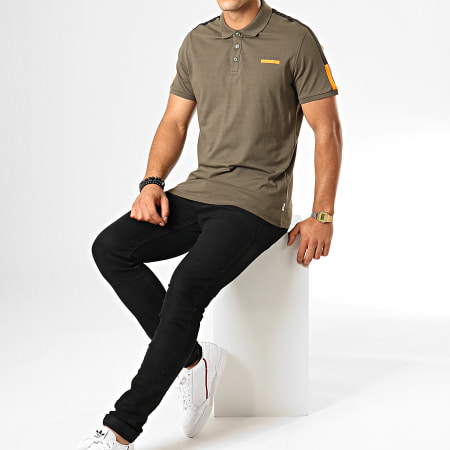 Jack And Jones - Polo Manches Courtes A Bandes Joey Vert Kaki
