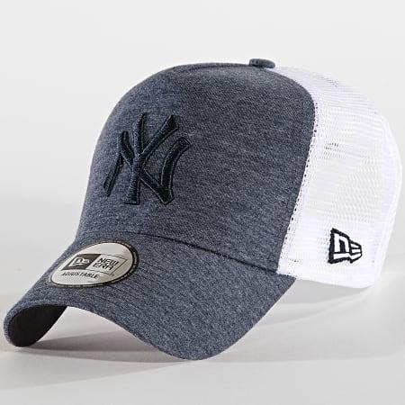 New Era - Casquette Trucker Jersey Essential New York Yankees 12040184 Bleu Marine Chiné Blanc