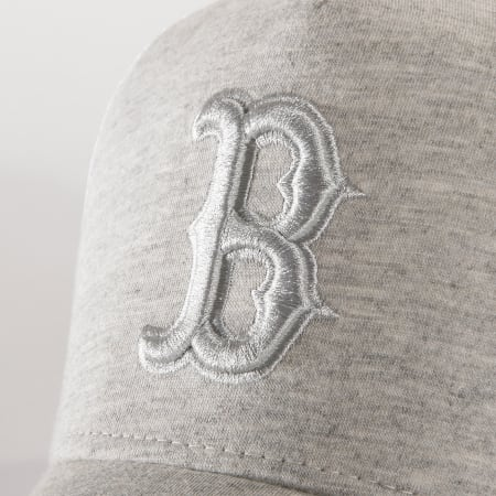 New Era - Casquette Trucker Jersey Essential 12040185 Boston Red Sox Gris Chiné Blanc
