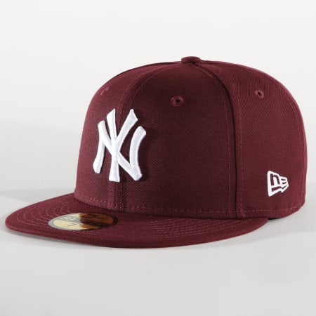 New Era - Casquette Fitted 59Fifty League Essential 12040446 New York Yankees Bordeaux