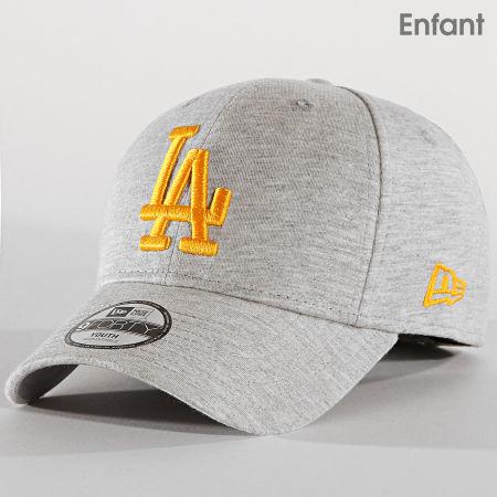 New Era - Casquette Enfant 9Forty Jersey Essential 12061722 Los Angeles Dodgers Gris Chiné
