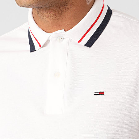 Tommy Jeans - Polo Manches Courtes Classics Tipped 7195 Blanc