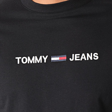Tommy Hilfiger Jeans - Tee Shirt Manches Longues Small Logo 7190 Noir