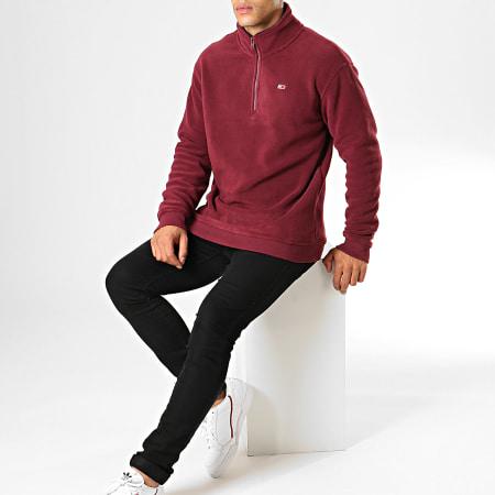 Tommy Hilfiger Jeans - Sweat Col Zippé Polar Fleece Mock 7037 Bordeaux