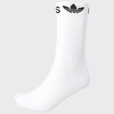adidas - Lot De 2 Paires De Chaussettes Line Cuff Crew ED8730 Blanc