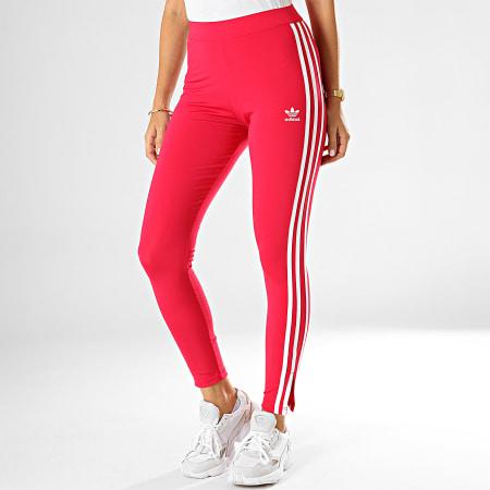 adidas - Legging Femme A Bandes ED4757 Rose Fushia Blanc ...