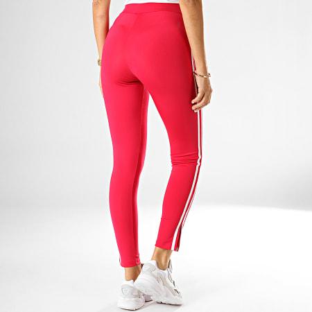 adidas - Legging Femme A Bandes ED4757 Rose Fushia Blanc